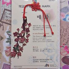 Korea Beauty Metal Bookmark Ume Flower Blossom FreeShipping
