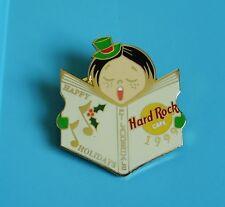Hard rock cafe pin badge caroler girl with hat & freckles Ft Lauderdale 1999
