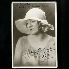Peggy O'Dare Silent Movie Star Hand Signed RP 1928 Postcard Large Size