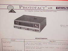 1972 AUTOMATIC CAR 8-TRACK STEREO TAPE PLAYER SERVICE MANUAL EMS-2121 MES-1454
