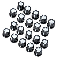New 20 pcs Wholesaler 6mm shaft hole Knob Black For Fender Guitar Jazz Bass