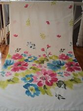 CYNTHIA ROWLEY Shower Curtain Fabric Bright Floral Turquoise Pink Lime White