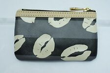 NWT Marc By Marc Jacobs Lips Key Pouch Wallet Ring Hook Credit Card Holder Black