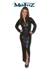 Misfitz leather look zip hobble mistress dress  sizes 8-32/made to measure TV