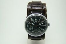 GERMAN PILOT OBSERVER WATCH B-UHR TYPE WW2 TYPE VINTAGE SERVICED WORKING 1967y
