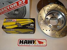 10-14 Mustang GT or Boss with Brembo Hawk Sector 27 Front Rotors & Ceramic Pads