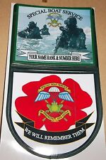 SPECIAL BOAT SERVICE CAR WINDOW REMEMBRANCE STICKER.