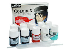 PEBEO COLOREX artista Inchiostro Set con 8 x 20ml colori, Disegno Gum & pipette
