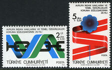Turkey B164-B165, MI 2463-2464, MNH. European Declaration of Human Rights, 1978