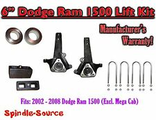 "2002 - 2008 Dodge Ram 1500 2WD 6"" Front 3"" Rear Spindle Coil Block Lift Kit"