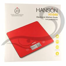 Hanson Electronic Digital H1040 Kitchen Weighing Scale Red