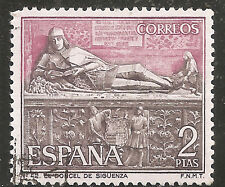 "Spain Stamp - Scott #1536/A365 2p Lilac Rose & Black ""Tourism"" Used/LH 1968"
