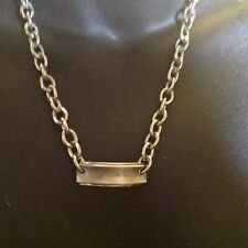 Tiffany $ Co  1837 Tag Titanium And Sterling Silver Chain Link Necklace
