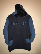 New Hurley Men's XL HB Sherpa Zip Sweatshirt Hoodie X Large Lined Blue Warm