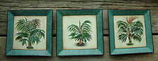 Lot of 3 Toyo Tropical Palm Tree Handpainted Decorative Plates Pictures