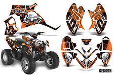 SIKSPAK Polaris Outlaw 90 Graphic Kit Wrap Quad Decal ATV All Years REBIRTH ORNG