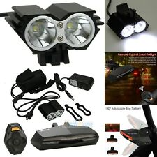 Remote Control Wireless MTB Bicycle Taillight Turn Signal Light + LED Headlight