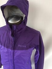 Marmot Women's PreCip Rain Coat Jacket SIze Small Purple