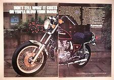 Kawasaki Motorcycle 2-Page PRINT AD - 1982 ~ KZ1000 CSR