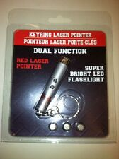 DUAL FUNCTION Keyring laser pointer  1mW output with SUPER BRIGHT LED flashlight