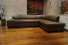 Rindsleder Ecksofa Echtleder Sofa Couch mit Schlaf Funktion 100%  Echtes Leder