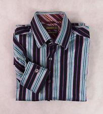 """Ted Baker Endurance rayé Shirt taille 16"""" 40,5 cm"""