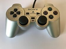 PS2 Original Controller SILBER DualShock 2 Sony PlayStation 2 SCPH-10010
