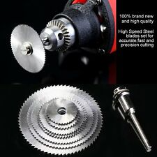 7pcs/set High Speed Steel HSS Circular Saw Blade Rotary Tool For Wood Cutting FE