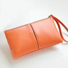 Women Leather Long Bifold Purse Zipper Clutch Handbag Wallet Evening Card Bag