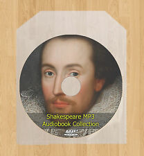 Complete Fabbrica di William Shakespeare Suona Audio Libri MP3 disco Sonetti