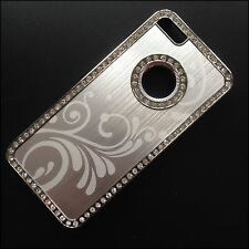 iPhone 5 5s iPhone SE luxury chrome bling floral case