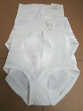 CUPID Extra Firm Control Brief Panty Girdle Shaper #5063 White SMALL - Lot of 2