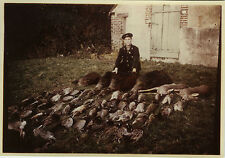 PHOTO ANCIENNE - VINTAGE SNAPSHOT - CHASSE TROPHÉE CHASSEUR MORT -HUNTER HUNTING