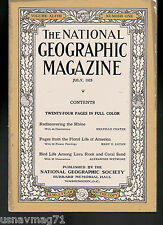 National Geographic, July 1925, The Rhine, Floral Life of America, Bird Life