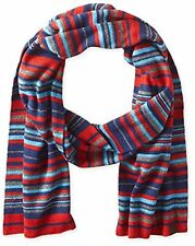 Penguin by Munsingwear Striped King Scarf - Red Gray Blue - New