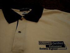 NEW Microsoft Certified Professional Systems Engineer Unysis Polo Golf Shirt XXL