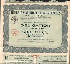 Tuilerie & Briqueterie de SALESCHES, Melon & Habrant (59) (Q)