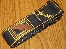 Fender Stratocaster Strat Deluxe Monogrammed GUITAR STRAP Telecaster Tele