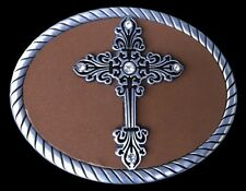 FLORAL CROSS TROPHY MEDIEVAL CRUSADER BELT BUCKLE BOUCLE DE CEINTURES