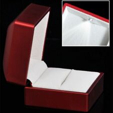 BEST Red Polish Light Ring Box LED for Proposal Engagement Jewelry Display
