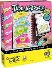 New! Creativity for Kids Tape-A-Doodle / Create Art, Doodle Book Just roll & go!