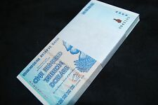 FULL BUNDLE ZIMBABWE 100 TRILLION BANKNOTES UNCIRCULATED SEQUENTIAL | 2008 AA