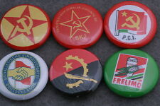 World Communist Party Button Badge Lot FRELIMO East Germany Yugoslavia Italy Set
