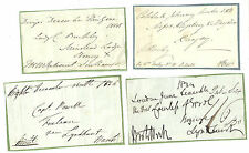 SELECTION/LOT 8 FREE FRONTS WITHOUT POSTMARKS 1811-1839 VARIOUS SIGNATURES L4
