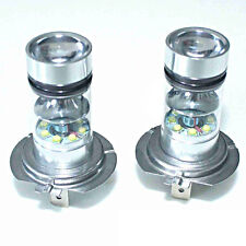 2x HID White H7 6000K 100W LED 20-SMD Projector Fog Driving DRL Light Bulbs Set