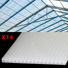 14 X 4 mm Polycarbonate Sheets Greenhouse Garden Shock-proof Light transmission