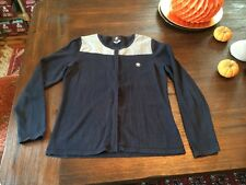 Womens BMW navy Blue Zip Sweater Size Large Med Small
