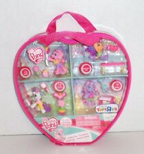 New My Little Pony Ponyville Figures Set Lot Carry Case Accessory 4-Pack 2009