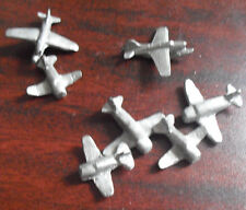Odd Vintage Lot of Small Miniature Lead Airplanes LOOK