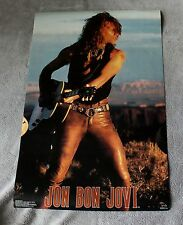 Jon Bon Jovi 1990 SOLO Young Guns Leather Pants Guitar Funky Poster #3298 EX